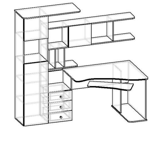 Компьютерный стол мебелайн-17 за 10700р. с бесплатной достав.